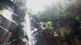 Mork-Fa waterfall Chaing Mai, Thailand stock footage