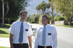 Morman Missionaries in California Royalty Free Stock Photo