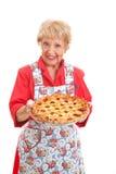 Mormödrar hemlagade Cherry Pie Fotografering för Bildbyråer
