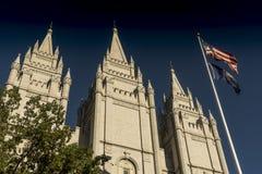 Mormon świątynia, świątynia kwadrat, Salt Lake City zdjęcia stock