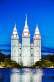 Mormon świątynia w Salt Lake City, UT Obraz Stock