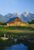 Mormon Barn. Iconic Mormon barn in the Teoton National park, Wyoming Royalty Free Stock Images
