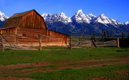 Mormon Barn 3. Historic barn located on Mormon Row, Grand Teton National Park, Wyoming Royalty Free Stock Photos