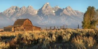 Mormon Barn, The Tetons stock photography