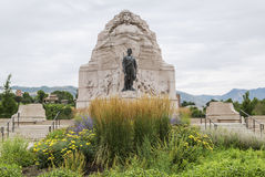Mormon Battalion Monument in Salt Lake City, Utah Royalty Free Stock Photo