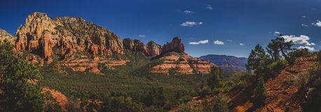 Mormon Canyon Panorama. Colorful Mormon Canyon Panorama viewed from along the Brins Mesa Trail on a clear, sunny day in the Coconino National Forest, Arizona Royalty Free Stock Photo