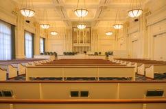 Mormon chapel interior Salt Lake Utah. Stock Image
