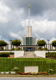 Mormon Church Under Cloudy Skies Royalty Free Stock Photos