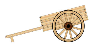 Mormon Hand Cart. A typical Mormon wooden empty hand cart stock illustration