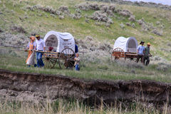 Mormon Pioneer Handcart Trek Royalty Free Stock Images