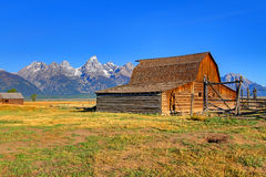 Mormon Row Barn in the Grand Tetons Stock Photos