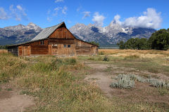 Mormon Row Barn in the Grand Tetons Royalty Free Stock Images