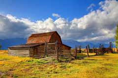 Mormon Row Barn in the Grand Tetons Royalty Free Stock Photography