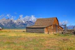 Mormon Row Barn in the Grand Tetons Royalty Free Stock Photography