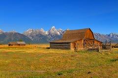 Mormon Row Barn in the Grand Tetons Stock Photo