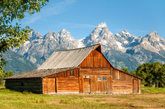 Mormon Row Barn. Old barn along Mormon Row in the Teton National Park Wyoming Stock Images