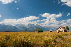 Mormon Row in Grand Teton National Park. USA Stock Image