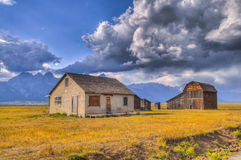 Mormon Row Grand Teton Stock Photo