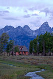 Mormon Row Pink Farm House. Historic Mormon Row in the Grand Teton National Park Royalty Free Stock Photos