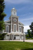 Mormon tabernacle. A view of the front of a Mormon tabernacle or church in Logan, Utah (USA royalty free stock photos
