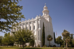 Mormon Temple. In St. George, Utah stock images