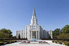 The Houston Texas Temple in Houston, Texas stock photo