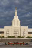 Mormon Temple in Idaho Falls, ID Royalty Free Stock Images