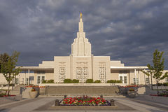 Mormon Temple in Idaho Falls, ID Stock Image
