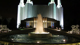 Mormon Temple at Night stock video footage
