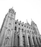 Mormon temple in Salt Lake City. Mormon Temple in Satl Lake City is one of the city's most recognized landmarks and most visited destinations Royalty Free Stock Photos