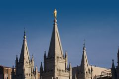 Mormon Temple in Salt Lake City. Utah Royalty Free Stock Photos
