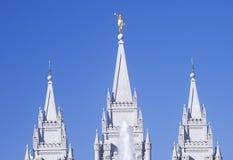 Mormon Temple in Salt Lake City Utah Stock Photo