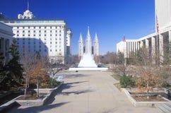 Mormon Temple in Salt Lake City Utah Royalty Free Stock Photo