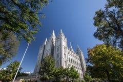 Mormon temple at salt lake city Stock Photo