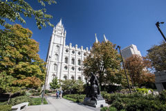 Mormon temple at salt lake city Royalty Free Stock Image