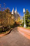 Mormon Temple Square in Fall Royalty Free Stock Photo