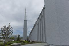 Mormon Temple. The Mormon Temple is a very important religious place for mormons Royalty Free Stock Photo