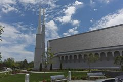 Mormon Temple. The Mormon Temple is a very important religious place for mormons Stock Photo
