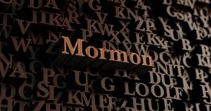 Mormon - Wooden 3D rendered letters/message Royalty Free Stock Photos