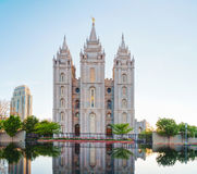 Mormonentempel in Salt Lake City, UT Stock Afbeeldingen