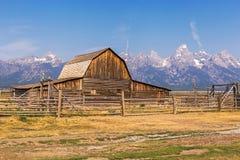 Mormonische Reihen-Scheune in großartigem Nationalpark Teton Lizenzfreies Stockbild