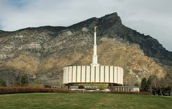 Mormonischer LDS Tempelvorfrühling Provo Utah Lizenzfreie Stockfotografie