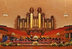 Mormonischer Tabernacle lizenzfreie stockbilder