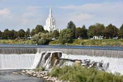 Mormonischer Tempel bei Idaho fällt in Idaho Lizenzfreie Stockfotos