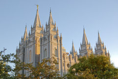 Mormonischer Tempel in Salt Lake City lizenzfreies stockfoto