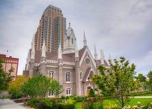 Mormons' Temple in Salt Lake City, UT Stock Photo