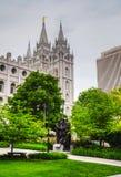 Mormons' Temple in Salt Lake City, UT Stock Image