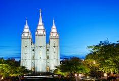 Mormons' Temple in Salt Lake City, UT Royalty Free Stock Photos