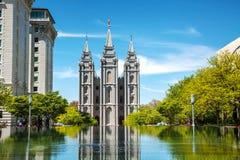 Mormons Temple in Salt Lake City, UT Stock Photo