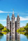 Mormons Temple in Salt Lake City, UT Royalty Free Stock Photography